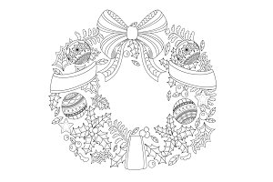Decorative wreath vector