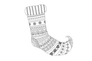Decorative Christmas socks vector