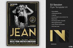 DJ Session Flyer Template V4