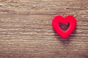 Red velvet heart