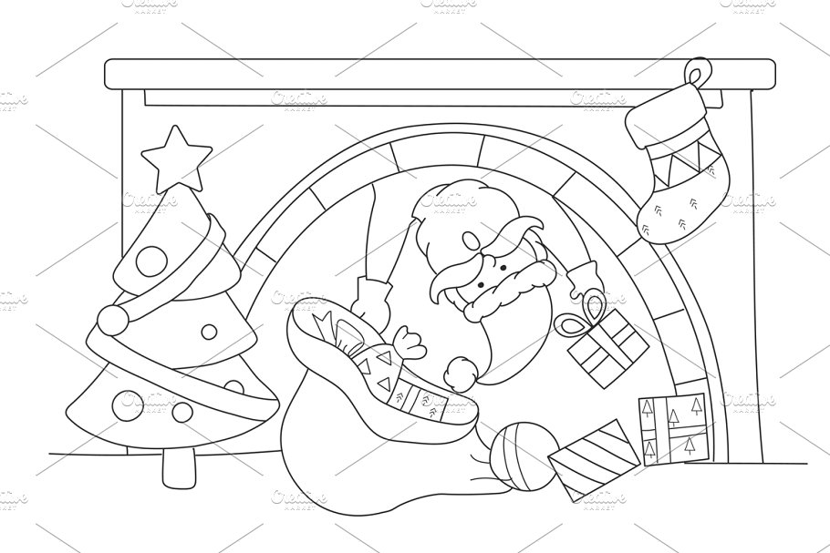 Merry Christmas vector in Illustrations - product preview 8