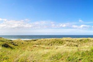 Dunes and North Sea on Juist