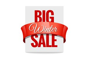 Big winter sale. Label