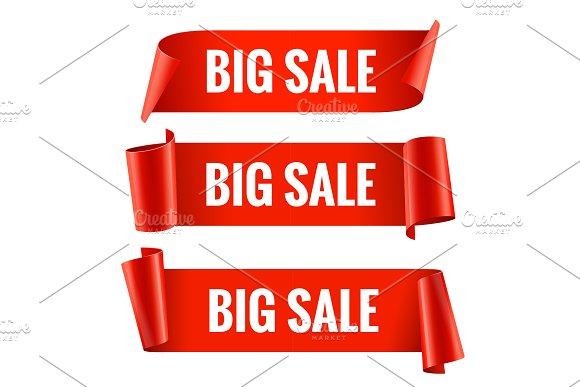 Sale banners set