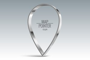 Map pointer sign