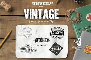 Vintage Labels, Logos & Tags