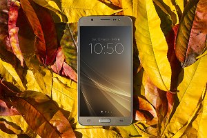 Android Smartphone Mockup, Autumn