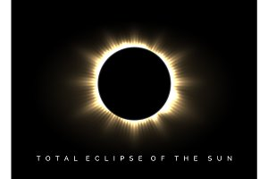 Total eclipse of the sun poster