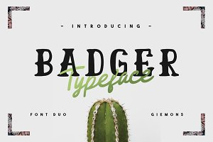 Badger Typeface - 50% OFF