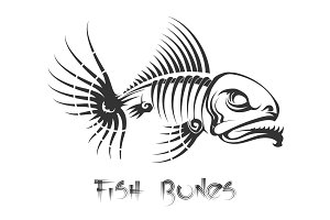 Fish bones tattoo