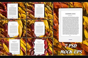 E-Book Reader, 7 PSD Mock-Ups,BUNDLE