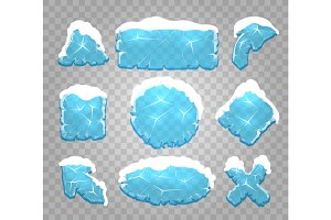 Ice and snow interface buttons