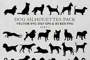 Dog Silhouettes Vector Pack 1