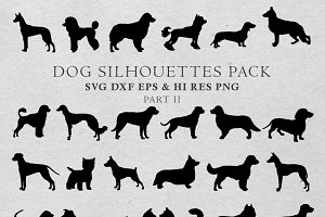 Dog Silhouettes Vector Pack 2