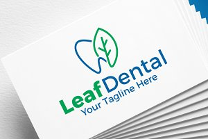 Leaf dental | Logo Template
