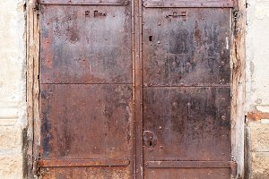 Old metal rusty door