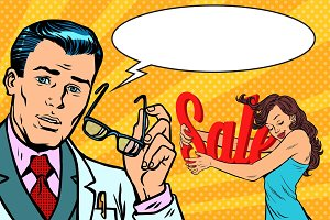 doctor and Shopaholic woman