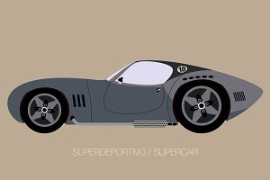 retro super car sport