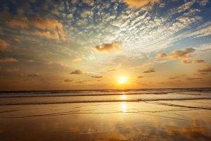 Sunset on Baga beach. Goa