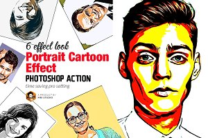 Portrait Cartoon Effect Action