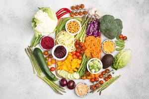 Ingredients for vegetarian snack