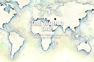 World Map Day Illustration