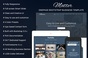 Matter - OnePage Business Template