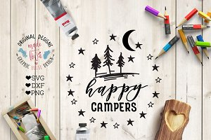 Happy Campers Cutting File