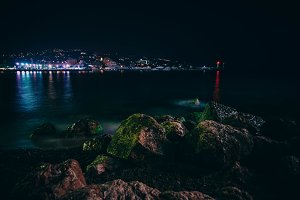 Yalta Cityscape At Night