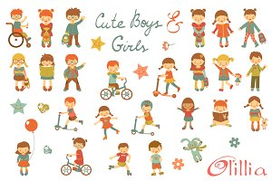 Cute boys and girls