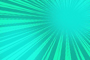 green pop art rays background