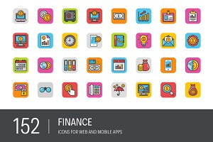 152 Finance Icons