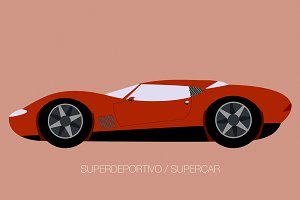 vector supercar illustration