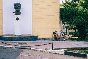 Two Gentlemen Enjoying Ice Cream