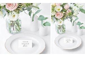 Wedding Place Card Mockup