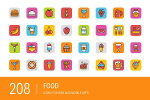 208 Food Icons