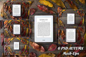 E-Book Reader, 6 PSD Mock-Ups,BUNDLE
