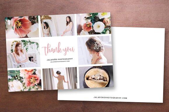 Photographer Thank You Card Template Templates Creative Market