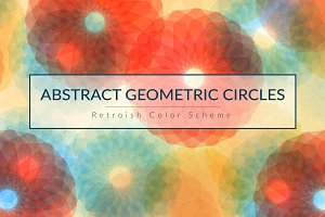 Abstract Geometric Floral Design