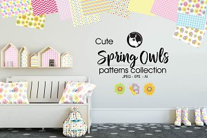 SPRING OWLS Pattern collection