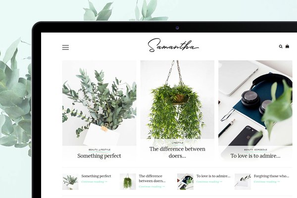 WordPress Blog Themes: LucaThemesCom - Minimal WordPress Theme - Samantha