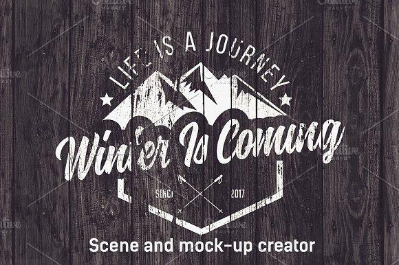 Winter Sports Scene /Mock-up Creator