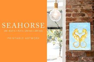 Seahorse Printable Artwork