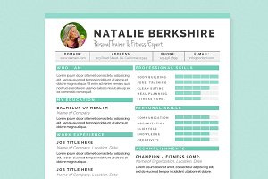 Turquoise Resume Template Package