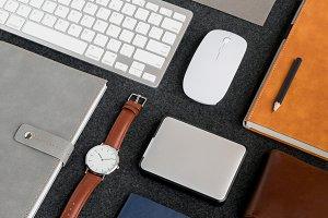 Masculine Workspace Layout