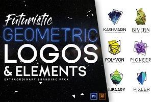 Futuristic & Geometric Logos Bundle