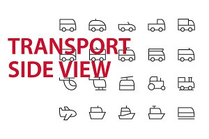 20 Transport Side View UI icons