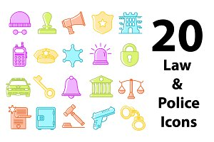 Law & Police Icons