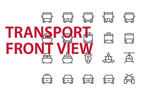 20 Transport Front View UI icons