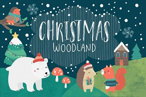 50% OFF SALE Woodland Christmas